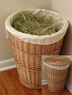 Hay storage basket