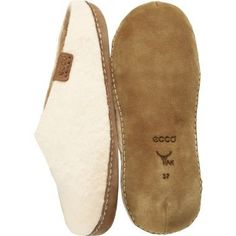 Ecco Womens Shoes Size 39 M Moccasin Slippers 9900301017 Katmandu Ice White Wool ECCO. $109.00
