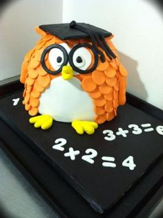 Owl Graduation Cake By andrewscakes on CakeCentral.com