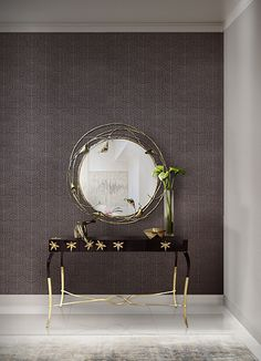 Entrance Hall | STELLA Mirror and LURIDAE Console | Koket | See more: https://www.brabbu.com/en/all-products.php