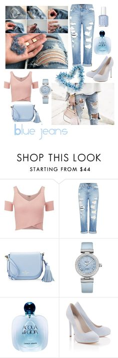 """Blue jeans"" by imsoginny ❤ liked on Polyvore featuring Lipsy, Genetic Denim, Kate Spade, OMEGA and Giorgio Armani"
