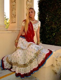 Jasmine Flower in Silk | Dancing Gopi Skirt Outfits