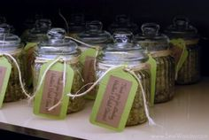 favor idea but in a mason jar with yellow stuff