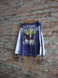 Novelty Skirt/ Eco Tattered T Shirt by RebirthRecycling on Etsy, $55.00