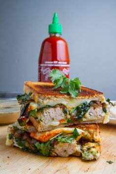 Thai Green Curry Turkey and Zucchini Meatloaf Grilled Cheese. That is a lot of influences.
