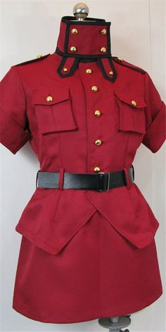 Vicwin-One Hellsing Seras Victoria Red Uniform Cosplay Costume ** For more information, visit image link.