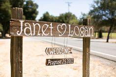 handpainted rustic wood sign