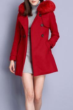 Double Breasted Hooded Walker Coat