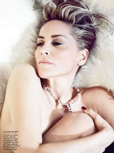 Sharon Stone Vanity Fair Spain Photo by Norman Jean Roy makeup by billy b