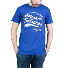 T-Shirt Esprit uomo azzurra 036EE2K031-E410