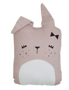 Fabelab pink bunny softie cushion for your child in their nursery, a new friend! Cute Bunny cushion in organic cotton for the modern home and nursery. Animal Cushions, Pink Cushions, Baby Nursery Furniture, Nursery Decor, Baby Rocking Horse, Baby Pillows, Cute Bunny, Decoration Design, Backrest Pillow