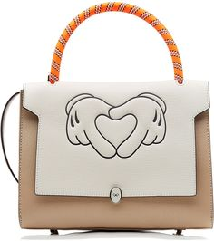 Anya Hindmarch Heart Hands Small Bathurst Leather Tote