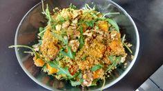Quinoa, butternut rôtie et roquette