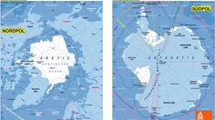 Differences Between North and South Pole FACTS | Why is Antarctica so Co...