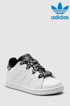 7e32cf998d8d58 Girls adidas Originals White Print Stan Smith Infant - White