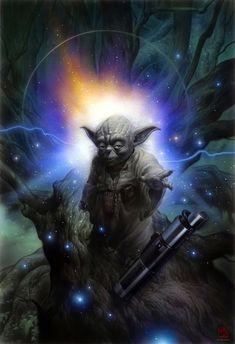 Stunning Star Wars #Yoda Paintings (20 total) - My Modern Metropolis
