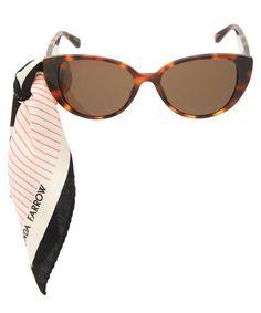 Linda Farrow Saranden Oversized Scarf Sunglasses In Beige Sunglasses Accessories, Women Accessories, Glamorous Outfits, Oversized Scarf, Linda Farrow, Tortoise Shell, World Of Fashion, Luxury Branding, Cat Eye Sunglasses