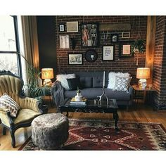 moody living room