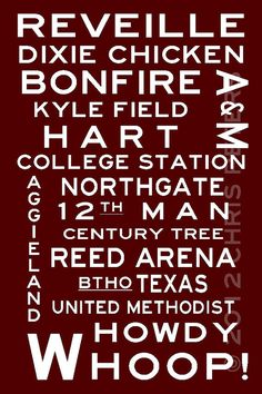 Texas Aggies - Fan sign.  Whoop! BTHO Texas (historical reference, of course).  Gotta love Aggieland