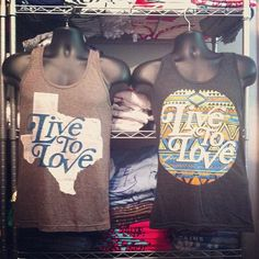 Our Tribal  Texas tanks are now back in stock in all sizes! These are popular and go fast, so get yours while you can! www.livetoloveapparel.com #livetolove
