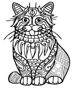 Coloring Book Art Mandala Free Dog Page Animal Pages Adult Sheets Cat Colors For Cats