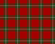 """MacGregor Red and Green"" (aka ""Modern MacGregor Tartan"") - Number 4 of 4 officially sanctioned Tartan designs, approved of by Sir Malcolm MacGregor, Chief of Clan Gregor."