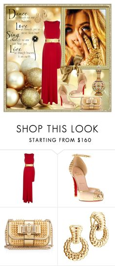 """""""GOLD"""" by fantasiegirl ❤ liked on Polyvore featuring Fabergé, River Island, Christian Louboutin and John Hardy"""