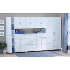 The SystemBuild Trailwindl 24 Wall Cabinet allows you to add extra storage space to any room in your home or garage. The interior of this Cabinet features One of the shelves is adjustable so that you can space it to meet your storage needs Utility Storage Cabinet, White Storage Cabinets, Door Storage, Storage Drawers, Kitchen Storage, Locker Storage, Utility Sink, Kitchen Pantry, Utility Closet