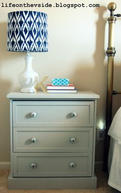 On the V Side: New Look Nightstand: IKEA Rast Hack