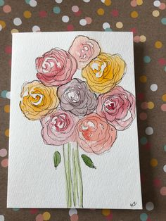 A personal favorite from my Etsy shop https://www.etsy.com/listing/580690146/watercolor-flower-card-hand-painted