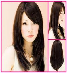 Layers distract the roundness of face, the thick side swept bangs covers my lazy eye, minal maintenance hairstyle