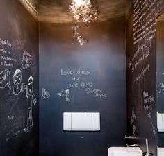 Peignez vos murs avec de la peinture ardoise #pensebete #deco #rencontreunarchi @rencontreunarchi