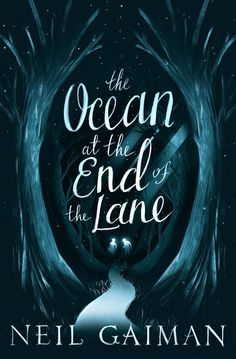 Cover art by Leo Nickolls for a special limited paperback run of the novel 'The Ocean At The End Of The Lane' by Neil Gaiman. Only available in the UK during Christmas. Book Cover Art, Book Cover Design, Book Art, Editorial Illustration, Book Illustration, Digital Illustration, Neil Gaiman, Edition Jeunesse, Black And White Books