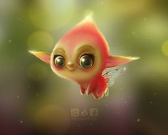 Cute Fantasy Creatures, Bizarre, Character Design Animation, Disney Animation, Faeries, Painting & Drawing, Cool Art, Awesome Art, Fairy Tales