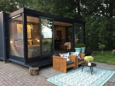 It is certainly marvelous what these individuals did with this specific design and plan. What a solid approach for a Timy Houses, White Gazebo, Container Design, Garden Studio, Outdoor Living, Outdoor Decor, B & B, Beach House, Minimalist