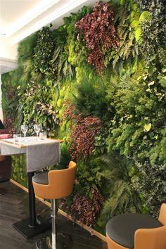 Pared verde jardín vertical de la pared de estar mini jardín