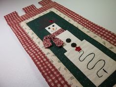 Christmas Snowman Wall Hanging by PatsysPatchwork on Etsy, $12.00