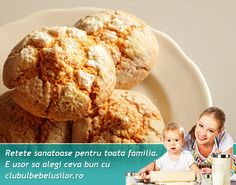 Biscuiti cu mere si ovaz pentru copii - Clubul Bebelusilor Baby Breakfast, Holistic Nutrition, Toddler Meals, Baby Food Recipes, Oatmeal, Deserts, Menu, Ice Cream, Cooking