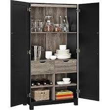 This 2 door, Storage Cabinet includes 6 shelves and 2 large drawers. A unique feature of this item is that 2 of the shelves are reversible. One side is a flat shelf and the other side holds bottles. Door Storage, Storage Spaces, Locker Storage, Game Storage, Extra Storage, Furniture Deals, Kitchen Furniture, Garden Furniture, Kitchen Pantry