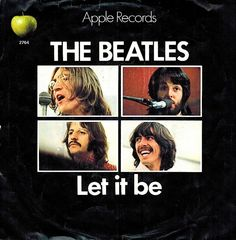 CANADA BEATLES PICTURE SLEEVE 45 RPM THE BEATLES : LET IT BE + YOU KNOW MY NAME