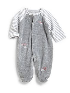 Kissy Kissy Infant's Velour Game Ball Footie