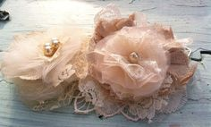 Champagne Ivory Tan Linen Lace Tulle by RhysandRaesCreations, $26.00