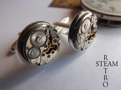 Uomini Steampunk Wedding Gemelli 16 mm - gemelli Steampunk Steampunk Gioielli di Steamretro. : Bijoux per uomo di steamretro-italia