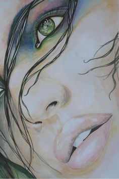 Jan Kurdman on - Pencil Art Drawings, Art Drawings Sketches, Charcoal Art, Portrait Art, Face Art, Artist Art, Watercolor Art, Pop Art, Art Projects