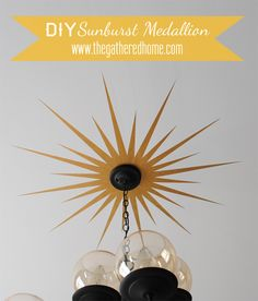 DIY Sunburst Ceiling Medallion!