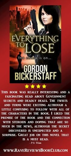 """A must read"" novel by Gordon Bickerstaff  @ADPase #RRBC Conspiracy about in this twisty thriller!"