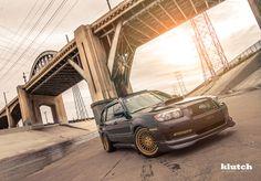 Subaru Forester on Gold Klutch SLC1s