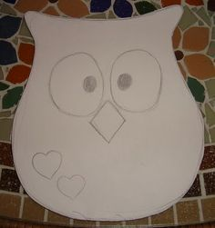 love this simple owl Owl Sewing, Sewing Toys, Sewing For Kids, Sewing Crafts, Owl Templates, Applique Templates, Applique Patterns, Owl Quilts, Owl Pillow