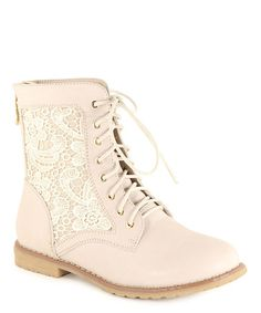 Beige Clayton Lace-Up Boot by Anna Shoes #zulilyfinds #shoelove