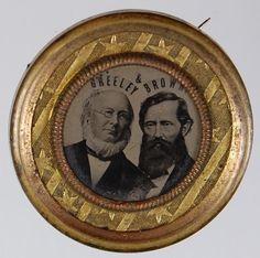 Horace Greeley ferrotype, 1872